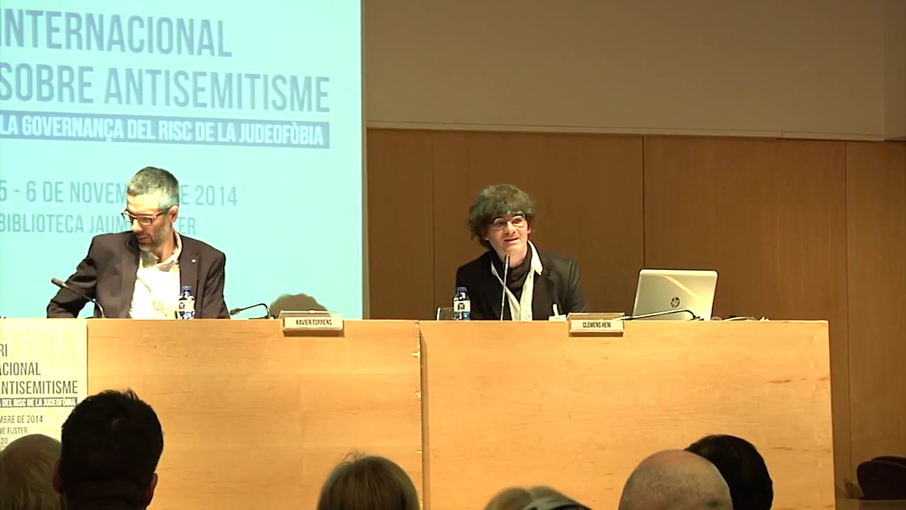 BICSA Director Clemens Heni at the third Internatinal Seminar on Antisemitism in Barcelona, 5-6 November 2014